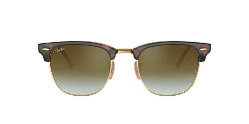 Ray-Ban Clubmaster 990/9J Gafas de sol, Shiny Red/Havana, 49 para Hombre