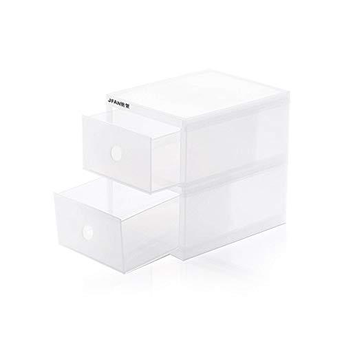 引き出し 収納ケース プラスチック 小物収納ボックス 二段 透明 卓上 文房具 化粧品 事務用品 文書(约幅14...