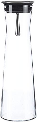 Bohemia Botella garrafa indis 1,10 L con tapón y péndulo de Acero, 10.2x10.2x30.5 cm