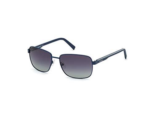 Timberland Eyewear TB9196 Gafas, Matte Blue/Smoke Polarized, 58 para Hombre