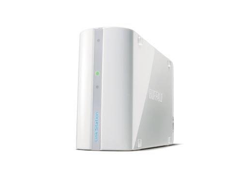 Buffalo LS-WSX500LR1WHE LinkStation Mini NAS-System 500GB (6,4cm (2,5 Zoll), BitTorrent-Cl, USB2.0) weiß