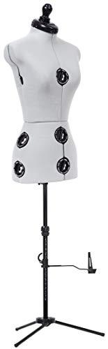 Dritz Twin-Fit Adjustable Dress Form, Petite, Grey