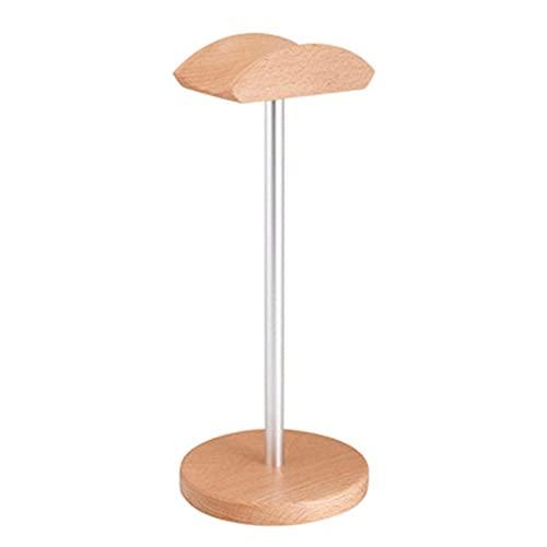 Feixunfan Soporte universal para auriculares de madera, antideslizante, ahorro de espacio para escritorio Gamer (color plateado, tamaño: talla única)