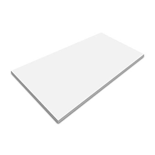 FLEXISPOT Sobremesa para Escritorio electrico con Altura Regulable de (120x60cm)(140x70cm) - Mesa laminada Reversible (Blanco, 120x60)