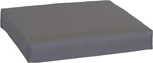 Gartenstuhl-Kissen Premium Lounge Sitzkissen Palettenkissen im Farbton anthrazit ca. 60 x 60 cm ca. 9 cm dick aus 100% Polyester wasserabweisend