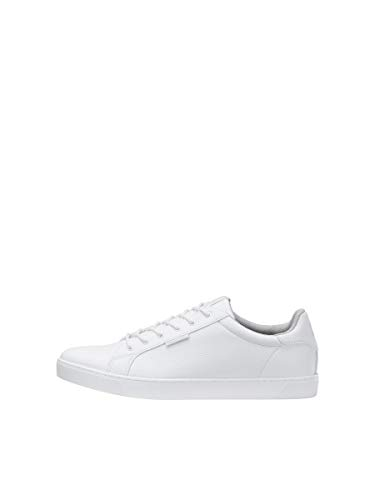 Jack & Jones Jfwtrent PU 19 Noos, Sneakers Basses Homme, Blanc (Bright White Bright White), 43 EU