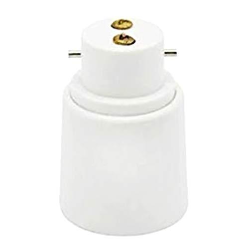 Aawsome Adaptador de lámpara B22 a E27 con base de luz de tornillo, de bombilla, retardante de llama, baquelita, duradero, seguro, sin fugas eléctricas.