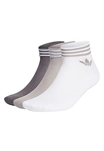 adidas GN3086 TREF ANK SCK HC Socks unisex-adult white/mgh solid grey 3942