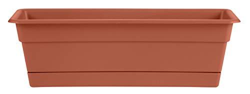 Bloem DCBT36-46 Series DCBT18-00 Dura Plant Window Box, 18-Inch, Black, 36', Terra Cotta
