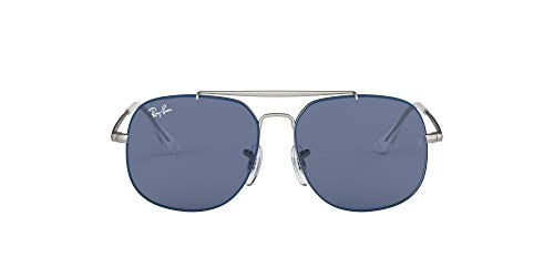 Ray-Ban Unisex adulto JUNIOR-THE-GENERAL-0RJ9561S280-80 JUNIOR-THE-GENERAL-0RJ9561S280-80, (Top Rubber Blue On Silver)