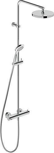 Duravit Duschsystem B.2 (mit Brausethermostat, Handbrause, Kopfbrause, Brauseschlauch), Chrom