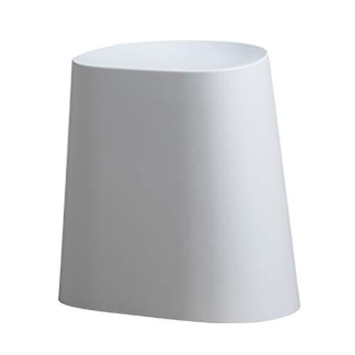YDDZ Material PP Taburete Simple Taburete Redondo Creativo Se Puede Superponer Una Pequeña Mesa de Café Se Puede Colocar El Taburete de Tocador Se Puede Almacenar Y Ahorrar Espacio 43x26x43cm