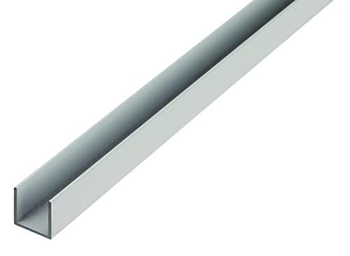 GAH-Alberts 475697 U-Profil | Aluminium, natur | 1000 x 15 x 20 mm