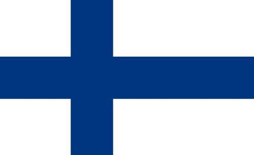 Michael & Rene Pflüger Barmstedt 8,4 x 5,4 cm Autoaufkleber Fahne von Finnland Aufkleber Sticker fürs Auto Motorrad Handy Laptop Indoor/Outdoor