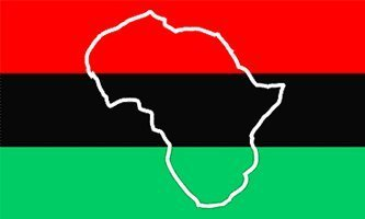 3x5 AFRICA OUTLINE FLAG, map african american, african-american banner, afro-american, afro american, africa negro black heritage
