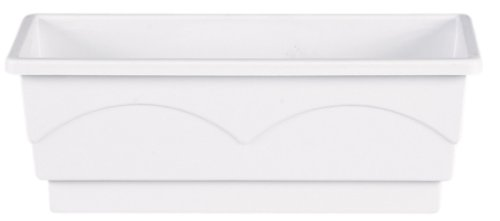 Emsa 501831 Lago aqua comfort - Jardinera (50 cm), color blanco