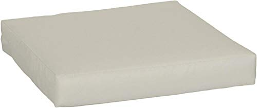 Beo Sitzkissen für Lounge- und Paletten-Möbel | Sand Hell | Gr. 60x60 cm, 9 cm dick | Glatte Optik | Wasser- und Fleckabweisend | mit Reißverschluss | Öko-Tex-Standard