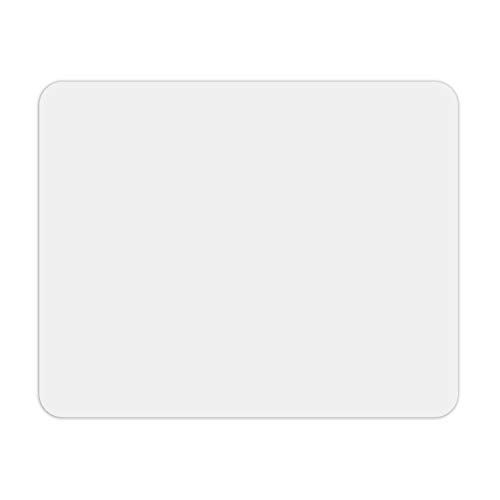 Tapis de souris blanc I 24 x 19 cm I taille standard, antidérapant I uni moderne intemporel I dv_640