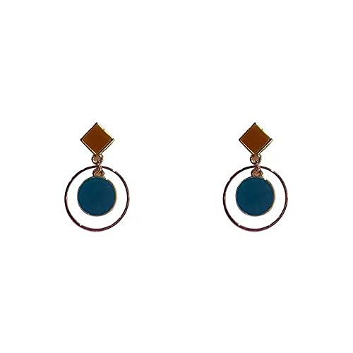 BeniS925 Silver Silver Ear Pendientes de uñas femenino nuevo-marrón