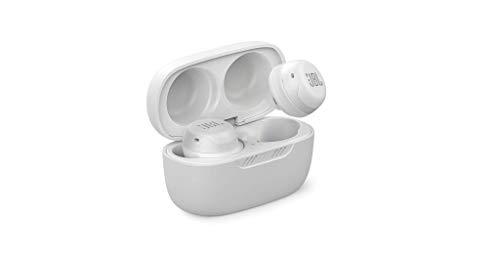 JBL Live Free NC+ TWS – Kabellose In-Ear-Kopfhörer mit Noise Cancelling in Weiß – Bis zu 21 Stunden Akkulaufzeit – Inkl. Ladebox