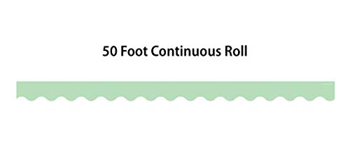 Mint Green Scalloped Rolled Border Trim Photo #2