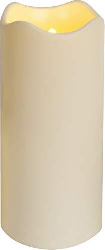 Smart Planet® hochwertige flackernde LED Kerze Kunststoff in weiß Flamme bewegt Sich durch Luftzug - ca. 23 x 10 cm