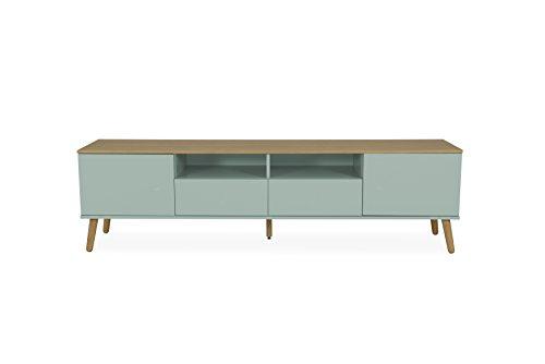 Tenzo Dot TV-Bank 2 Türen und 2 Schubladen, MDF, Salbei / Eiche, One Size