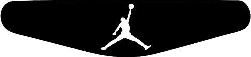 Decus-Shop Play Station PS4 Lightbar Sticker Aufkleber Jordan Basketball (schwarz)