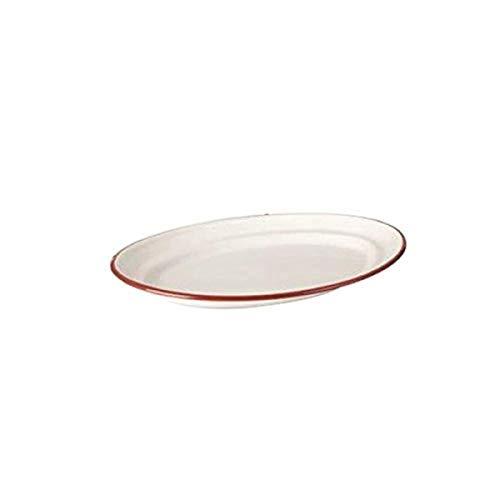IBILI 908725 Plat Ovale, Plastique, Blanc, 25 cm