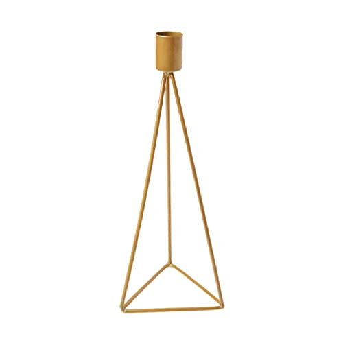 Triangle Geometric Candlestick Tealight Candle Holder Stand Wedding Party Decor candle holder lantern black rotating candlestick christmas candle holders for living room gold candle holders for tables