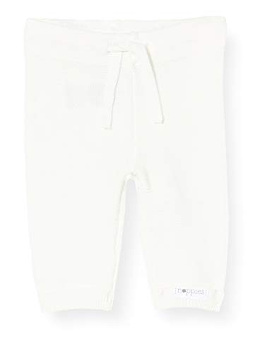 Noppies Unisex - Baby Hose U Pants Knit Reg Grover, Einfarbig, Gr. 74, Weiß (White C001)