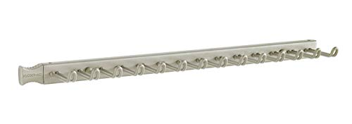 ClosetMaid 38053 14-Hook Tie & Belt Rack, Nickel (Renewed)
