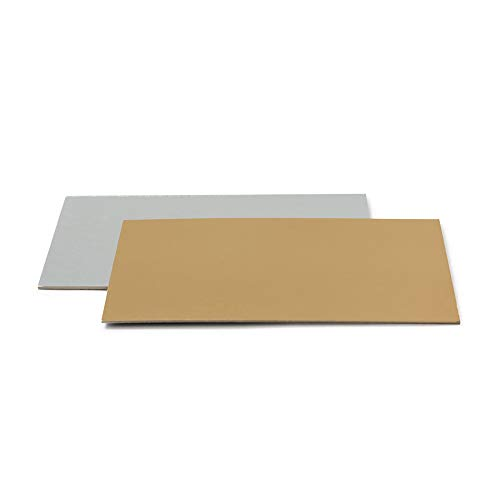 Tortenplatte Rechteckig Gold/Silber35 x 45 cm