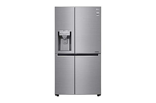 LG GSJ960PZVZ Frigorifero Americano Side by Side Total No Frost con Congelatore, 625 L, Classe F, 39 dB, Tecnologia Door in Door - Frigo con Dispenser Acqua e Ghiaccio, Wi-Fi e Display LED Esterno
