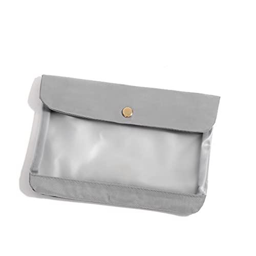 1 caja de almacenamiento plegable a prueba de polvo, a prueba de humedad, bolsas de tela de memoria, bolsa de almacenamiento portátil, ideal para máscaras, cosméticos y pañuelos