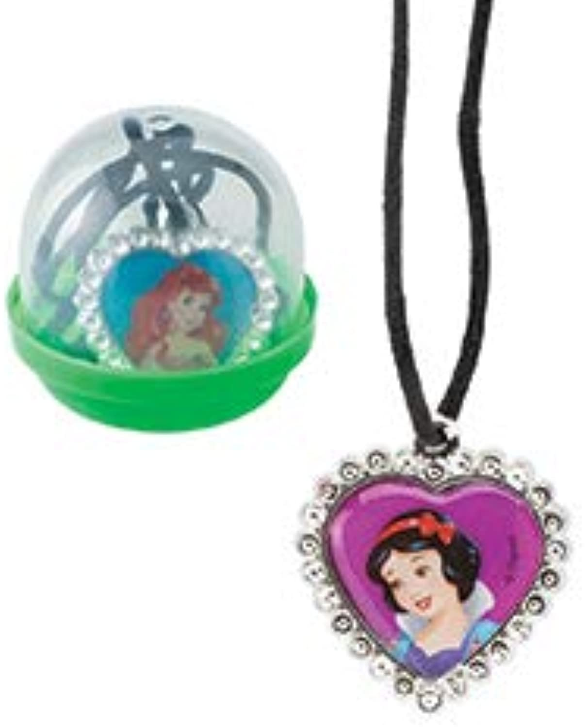 Disney Princess Jewel Heart Necklace in 2  Capsules  Prizes 250 per Pack