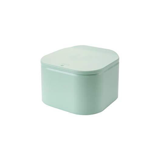 ZCX Mini Tipo de Empuje Creativo de Escritorio con Tapa, pequeño Dormitorio, Sala de Estar Junto a la Cama, Bote de Basura Cubos de Basura (Color : A 3)