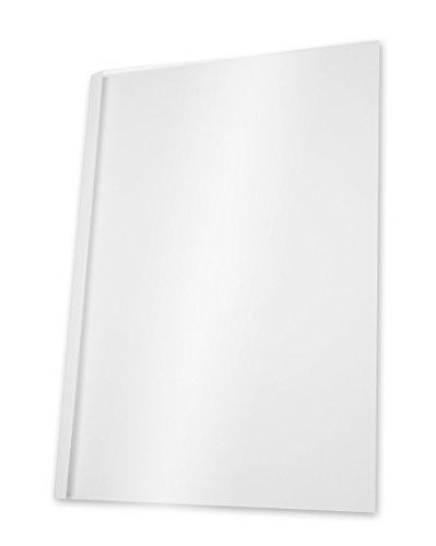 Pavo - Copertine per rilegatura a caldo, formato A4, larghezza dorso 3 mm per 11-30 fogli, 100 pz, colore: Bianco/trasparente