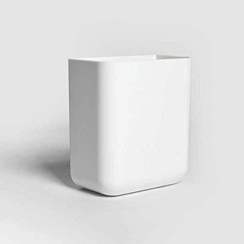 Stick on Desktop Plastic Pennenhouder Potloodstandaard Bureau Kantooraccessoires Organizer Wandmontage Home Opbergdoos Briefpapier Cadeau (Wit)