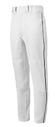 Mizuno Premier Piped Pant (White/Black, Large)