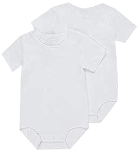 Bonds Baby Wondercool Eyelet Short Sleeve Bodysuit, White/White, 000 (0-3 Months)
