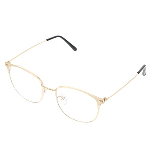 Artibetter 1 Unids Fashion Blue Light Gafas para Mujeres Y Hombres Sin Receta Lentes Claras Gafas Retro Pequeño Metal Redondo Marco Anti Eyestrein Y Gallar UV