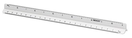 Westcott E-10163 00 Reduktionsmaßstab Architekt 1, Kunststoff, 30 cm, Weiß