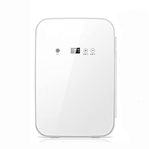 Mini nevera 8 L para Enfriar y Calentar, Mini Refrigerador portátil 12 V/220 V para Coche y Casa, Mini-Frigorífico Termoeléctrica Nevera con panel de control de temperatura