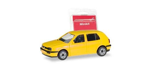 Herpa 012355-007 MiniKit VW Golf III, Color Amarillo Miki