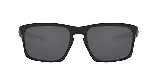 Oakley Men's Sliver (a) Polarized Iridium Rectangular Sunglasses, Polished Black, 57.01 mm