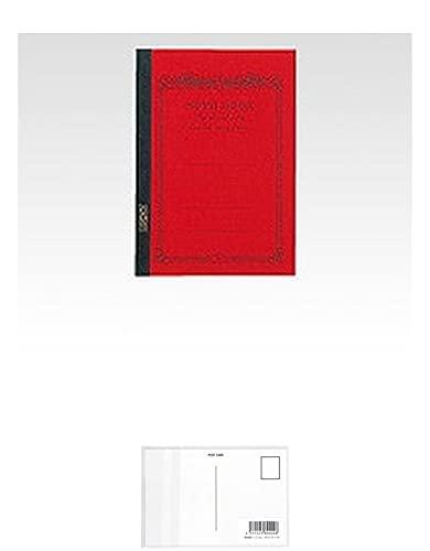 アピカ CDノート CD11RN A5 赤 + 画材屋ドットコム ポストカードA