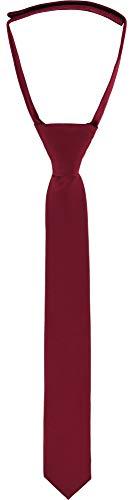 Ladeheid Kinder Jungen Krawatte KJ (31cm x 4cm, Weinrot)