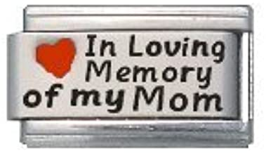 In Memory of My Dad Red Heart Laser Italian Charm