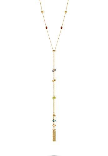 CHRIST Damen-Kette 375er Gelbgold 2 Amethyst One Size 87998444